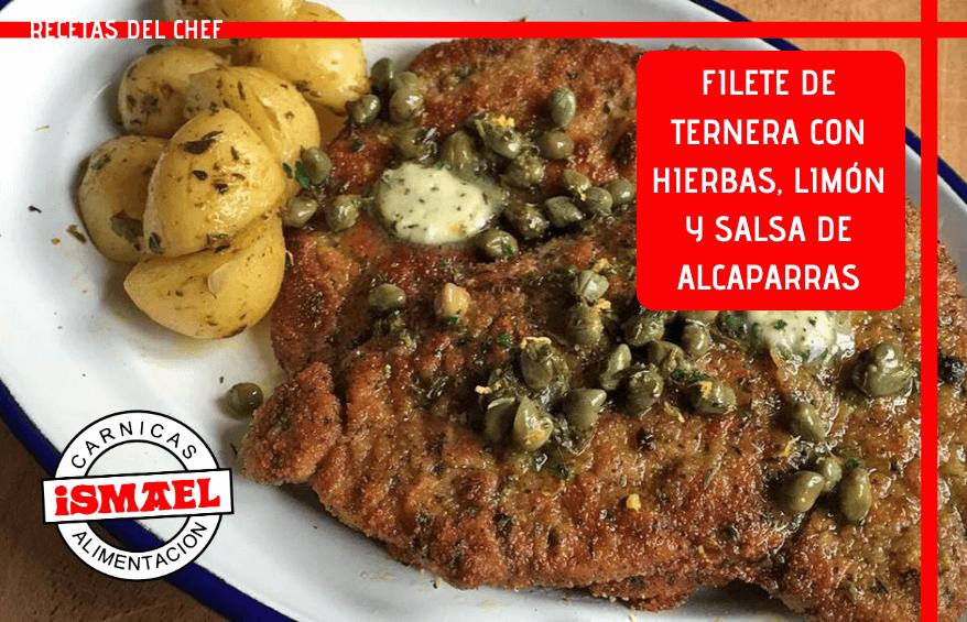 receta de Filete Empanado con Hierbas, Limón y Salsa de Alcaparras