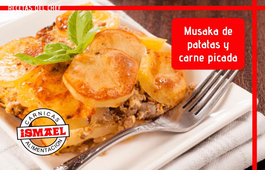 receta Musaka con patatas y carne picada