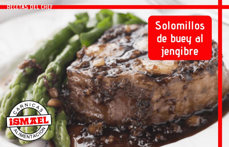 receta Solomillos de buey al jengibre