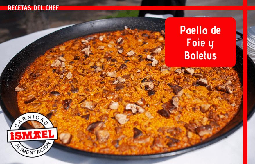 receta Paella de foie y boletus